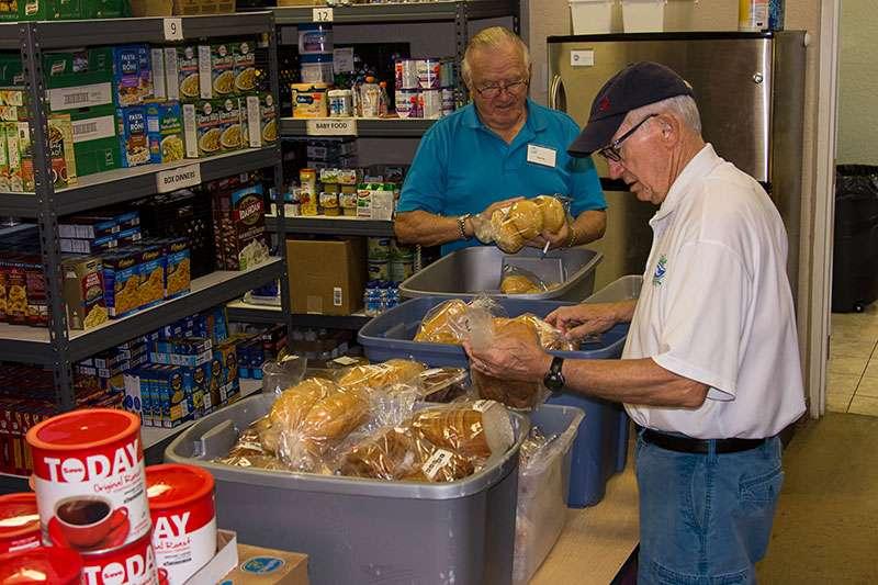 Men Preparing Bread